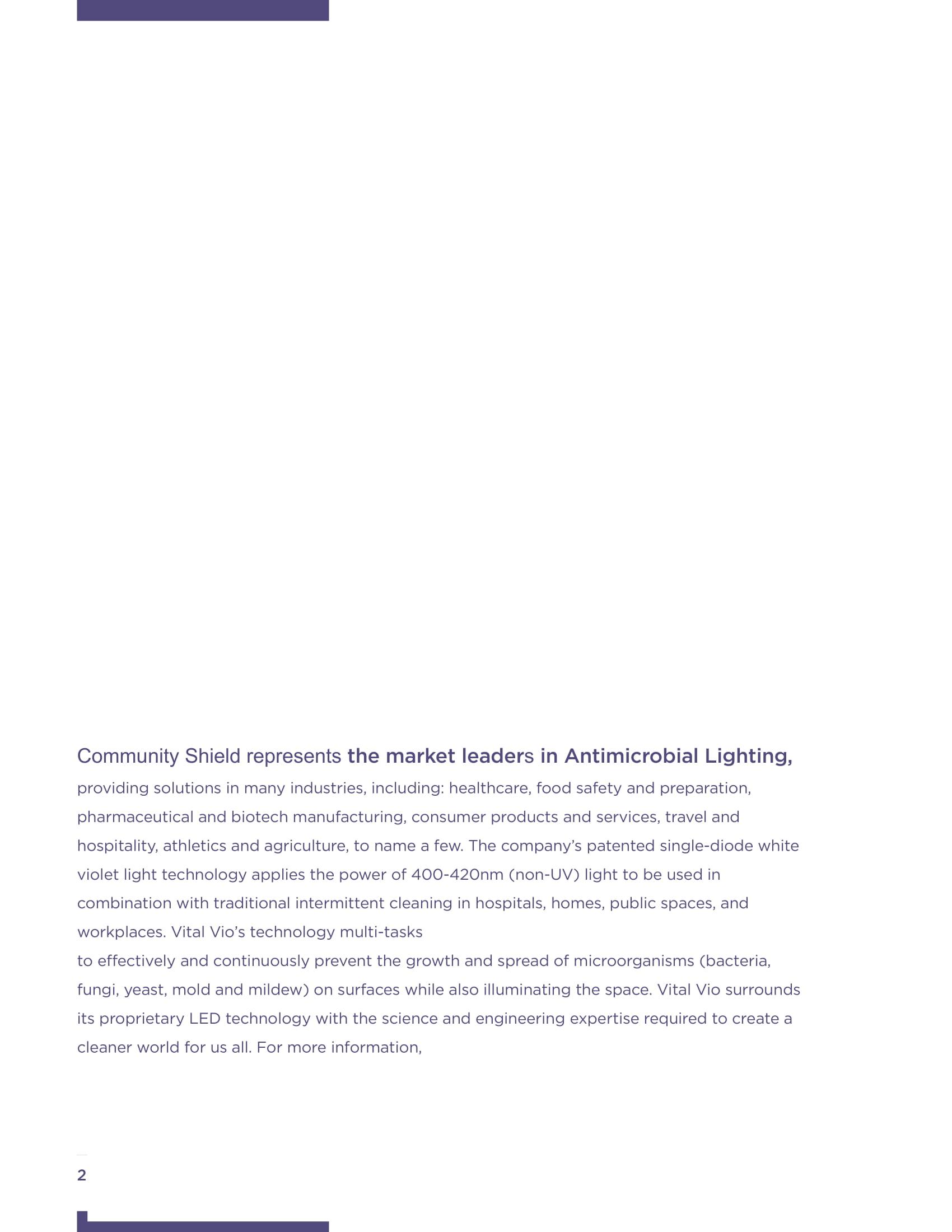 Community Shield Antimicrobial Lighting